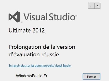 Visual Studio 2012: amplía el periodo de evaluación