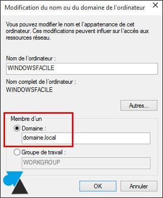Windows 10 (1703): unirse a un dominio local