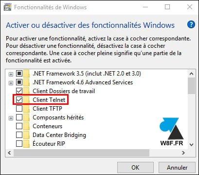 Instalar el cliente Telnet en Windows 10