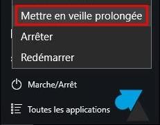 Windows 10: Habilitar hibernación