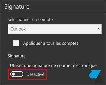 Windows 10 Mobile: modificar o desactivar la firma de correo electrónico
