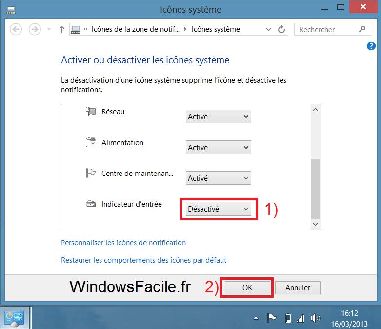 """Windows 8 y 8.1: eliminar el icono """"FRA"""" (o """"EN"""") de la barra de tareas"""