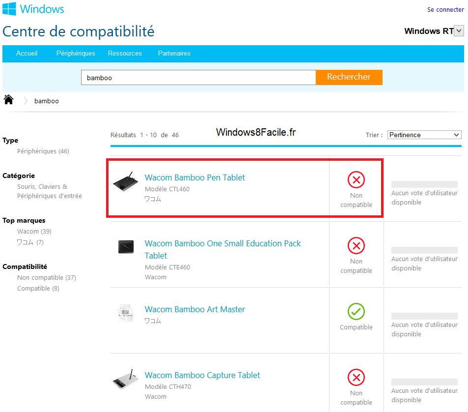 Saber si un software o dispositivo es compatible con Windows 8 / RT