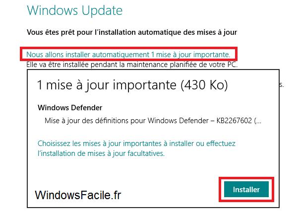 Windows 8: comprobar la disponibilidad de las actualizaciones