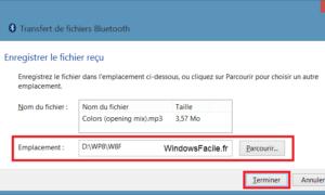 Windows 8: enviar / recibir archivos vía Bluetooth