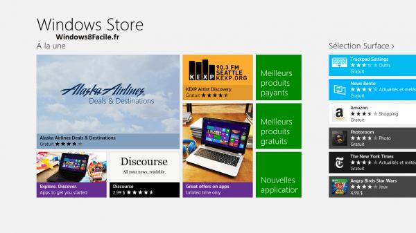 Windows Store: acceso a otras aplicaciones