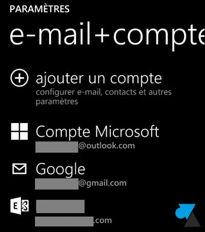 Windows Phone: añadir una cuenta de correo electrónico