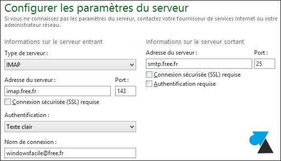 Windows Live Mail: añadir una dirección gratuita