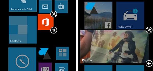 Windows Phone: cambiar el tamaño de los iconos
