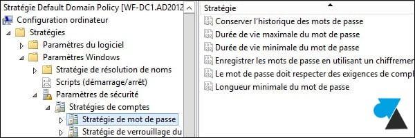 Windows Server: Contraseñas de usuario de Active Directory