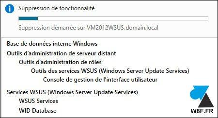 Desinstalación de un servidor WSUS