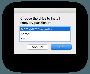 Crear una partición de recuperación HD de Yosemite (Mac OS X 10.10)
