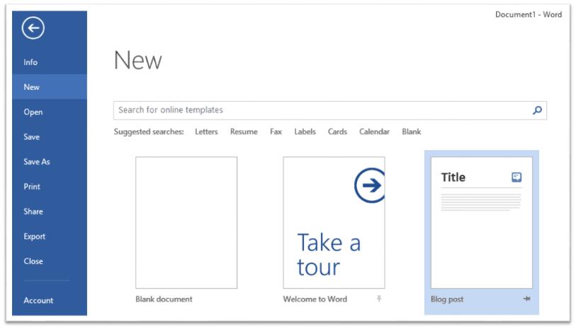 Cómo publicar una entrada de blog usando Microsoft Word 1