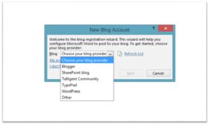 Cómo publicar una entrada de blog usando Microsoft Word