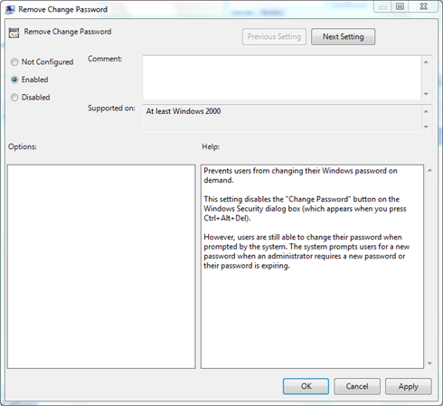 Personalizar Ctrl+Alt+Del Screen utilizando la directiva de grupo en Windows 10/8/7