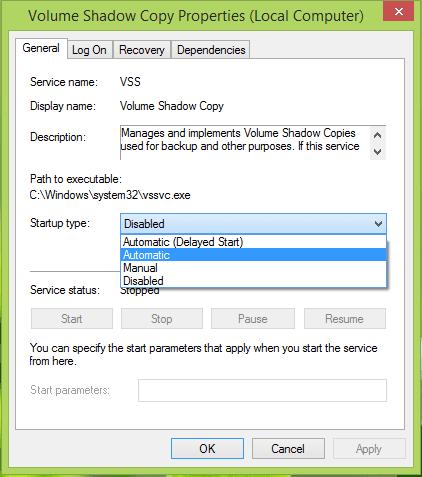 La imagen de recuperación no se puede escribir. Error 0x8004230c.