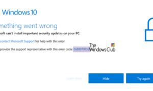 Fijar Windows 10 Update Error 0x80070652