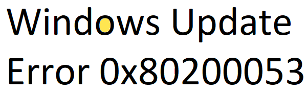 Error de Windows Update 0x80200053 al descargar actualizaciones