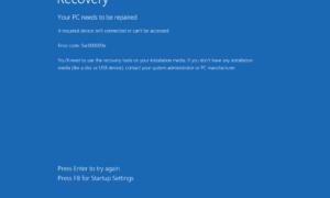 Cómo corregir el error 0xc00000000e, Su PC necesita ser reparado, en Windows 10