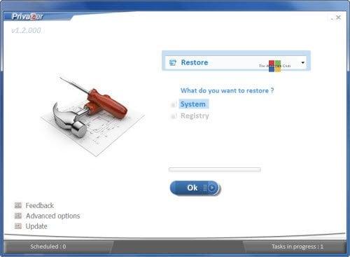 PrivaZer: Herramienta de privacidad y limpiador Power-packed del freeware para Windows