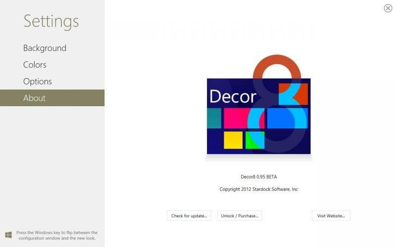 Cambiar el fondo de la pantalla de inicio de Windows 8 con Decor8