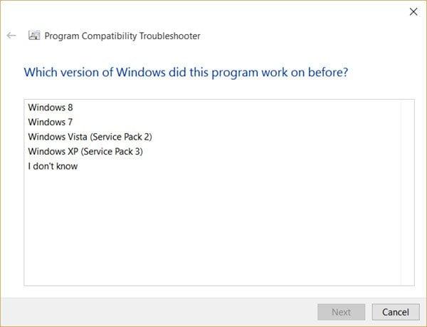 Este programa no se ejecuta en Windows 10 4