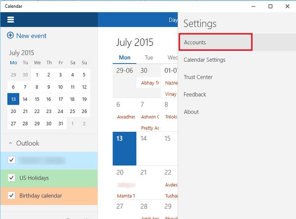 Cómo usar la aplicación Calendario de Windows 10 2