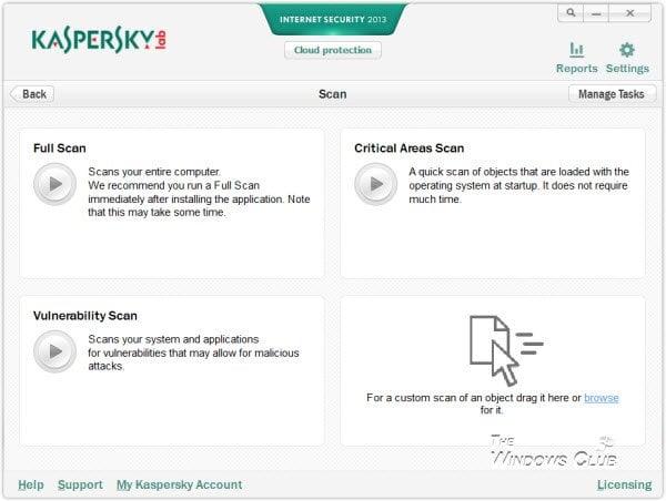 Revisión de la seguridad en Internet de Kaspersky 2