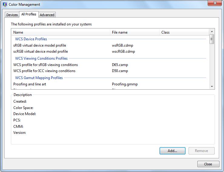 Cómo crear y administrar un nuevo perfil de color en Windows 10/8/7