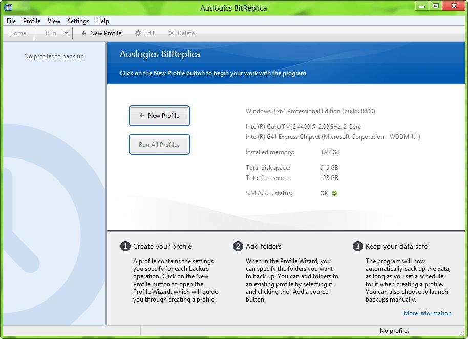 Haga una copia de seguridad de los datos que le gustan fácilmente con Auslogics BitReplica 2