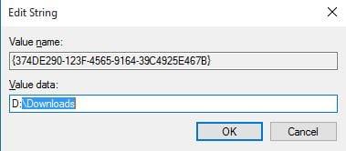 Cambiar la ubicación de descarga predeterminada en Edge Browser en Windows 10 5