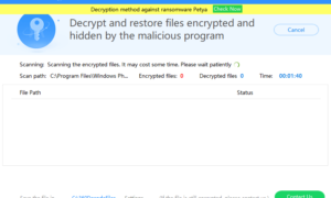 360 Ransomware Decryption Tool para sistemas Windows