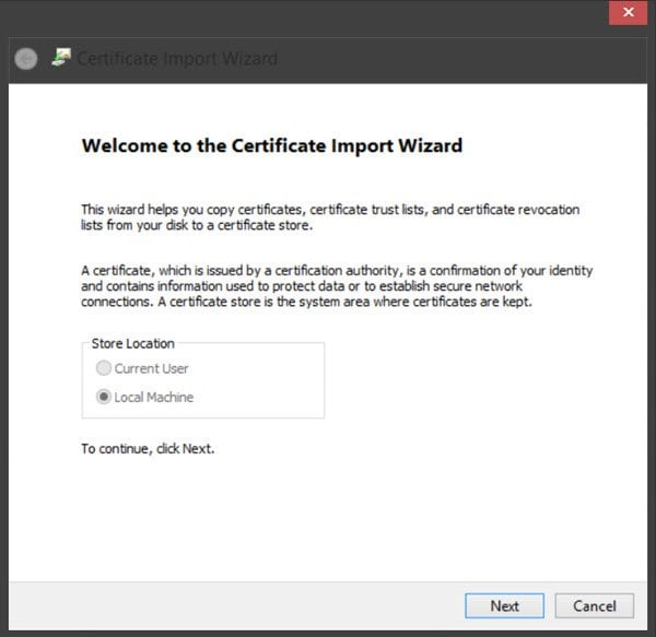 Managing trusted root certificates in Windows 10/8 5