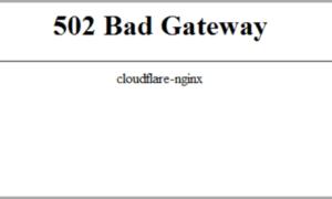 Cómo solucionar el error 502 Bad Gateway