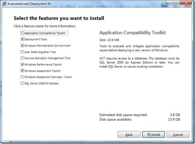 Kit de evaluación e implementación de Windows (ADK) para Windows 10/8/7