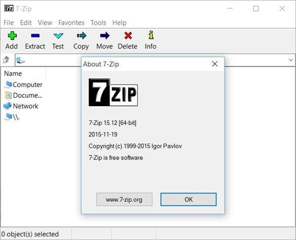 7-Zip revisión y descarga: Software Open Source File Archiver para PC con Windows 1