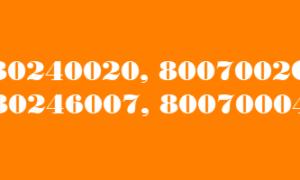 Corrección de errores de actualización de Windows 10 8007002C, 80246007, 80070004, 80240020