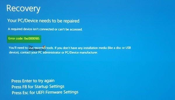 Un dispositivo necesario no está conectado o no se puede acceder a él.