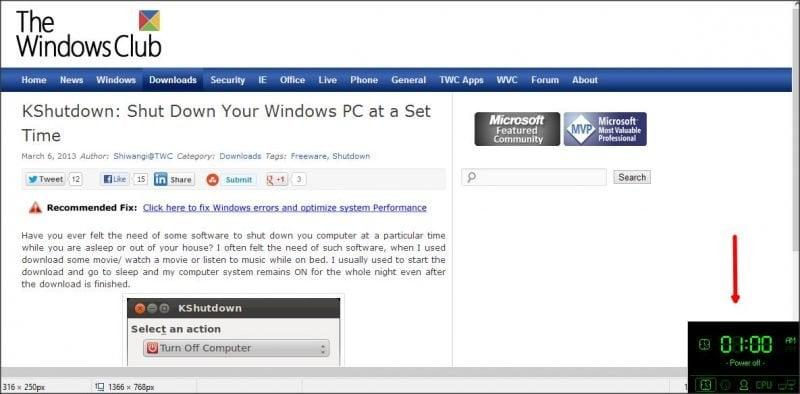 AMP WinOFF - Utilidad de Windows con varias opciones de apagado 6