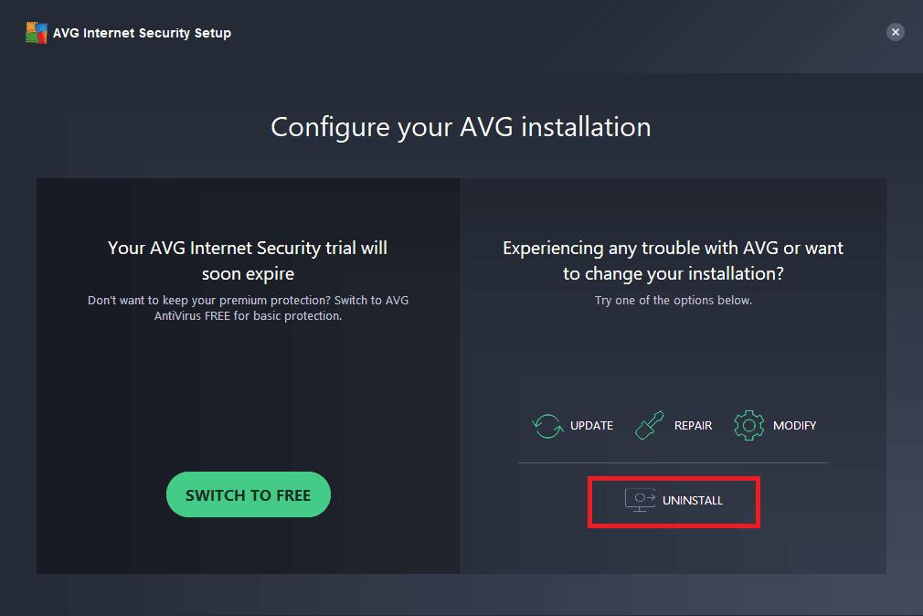 Desinstalación completa del antivirus AVG, etc. con AVG Clear & AVG Remover 2