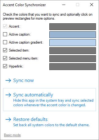 Sincronizador de color de acento: Sincronizar el color del acento con las aplicaciones de escritorio 1