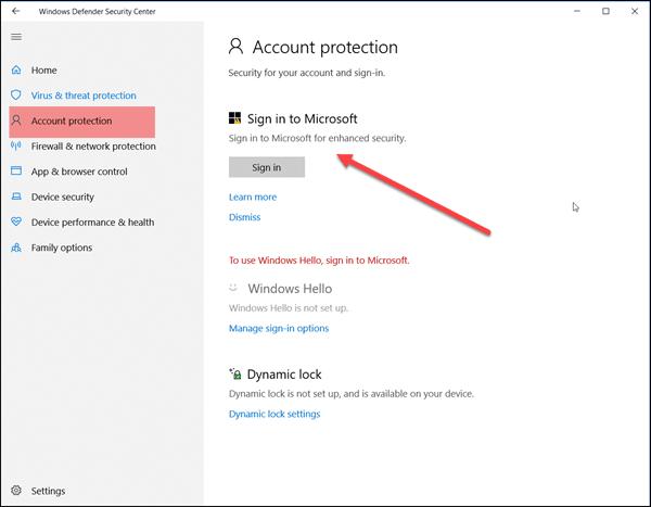 Quitar Windows Defender Acción necesaria o notificación recomendada