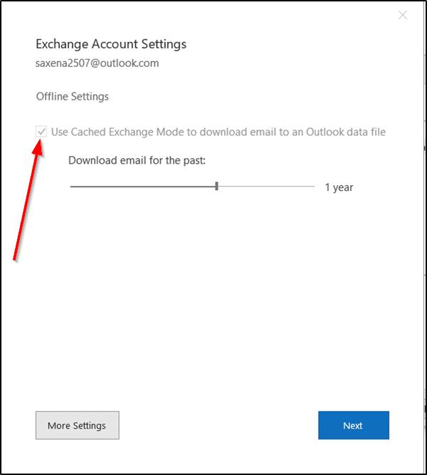 Cómo cambiar la cantidad de correo electrónico que se debe mantener fuera de línea en Outlook 2