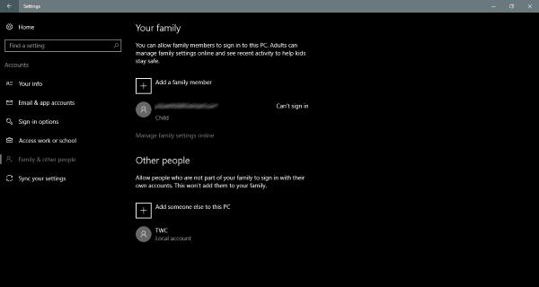 Cómo crear una cuenta de invitado en Windows 10