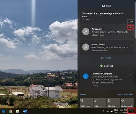 Cómo eliminar notificaciones antiguas en el Centro de actividades de Windows 10 2