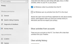 Administración de los permisos de privacidad de Windows en Windows 10