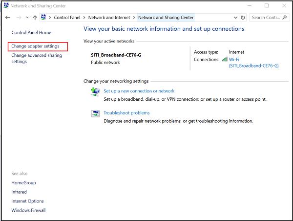 Desactivar o habilitar DHCP para Ethernet o Wi-Fi en Windows 10/8/7 1