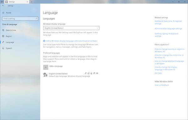 Cómo anular la configuración predeterminada del formato regional en Windows 10