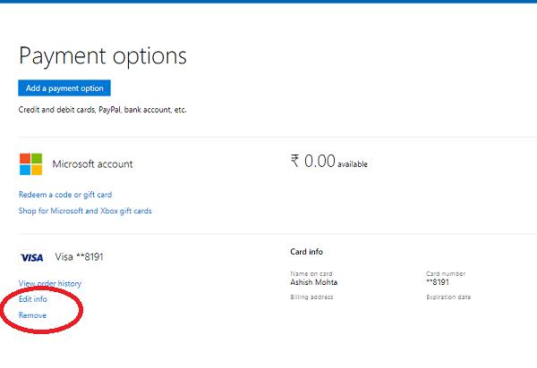 Agregar, quitar y administrar tarjetas de crédito en Microsoft Edge en Windows 10 3