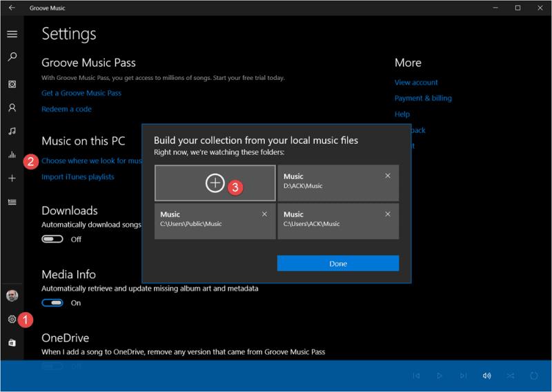 Cómo agregar música a Groove App en Windows 10
